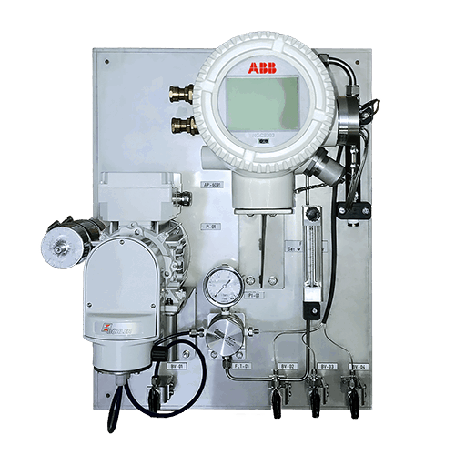 ASaP sample conditioning system with gas analyzer