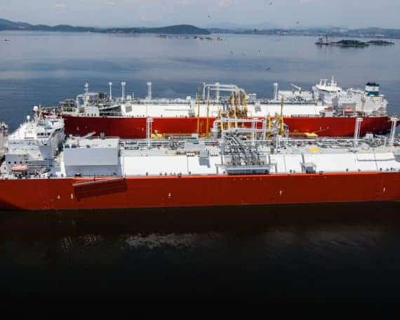 LNG transfer time at FSRU and accurate LNG sampling below 1 BarG