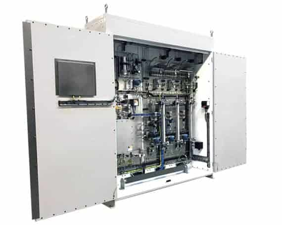 ASaP LNG Sampler - LNG Sampling System doors open