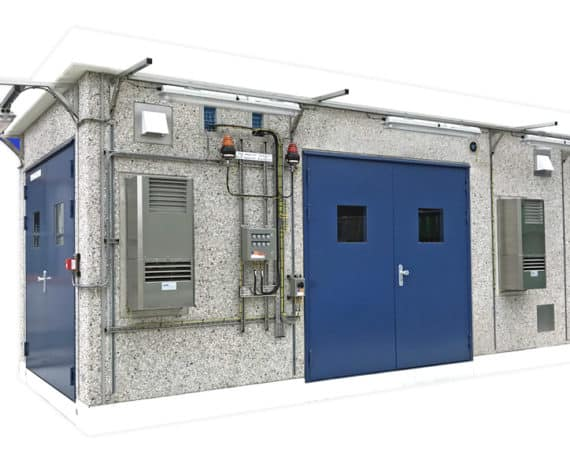 Concrete analyzer shelter for electrical and analytical equipment