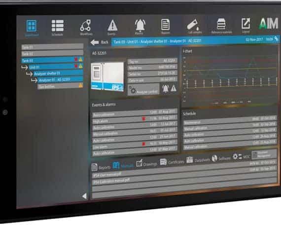 Analyzer Information Module AIM Tablet