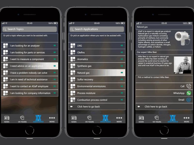 ASaP App pocket assistant smartphone