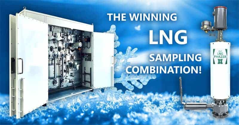 ASaP Phazer & LNG Sampler System; the winning combination! LNG sampler.