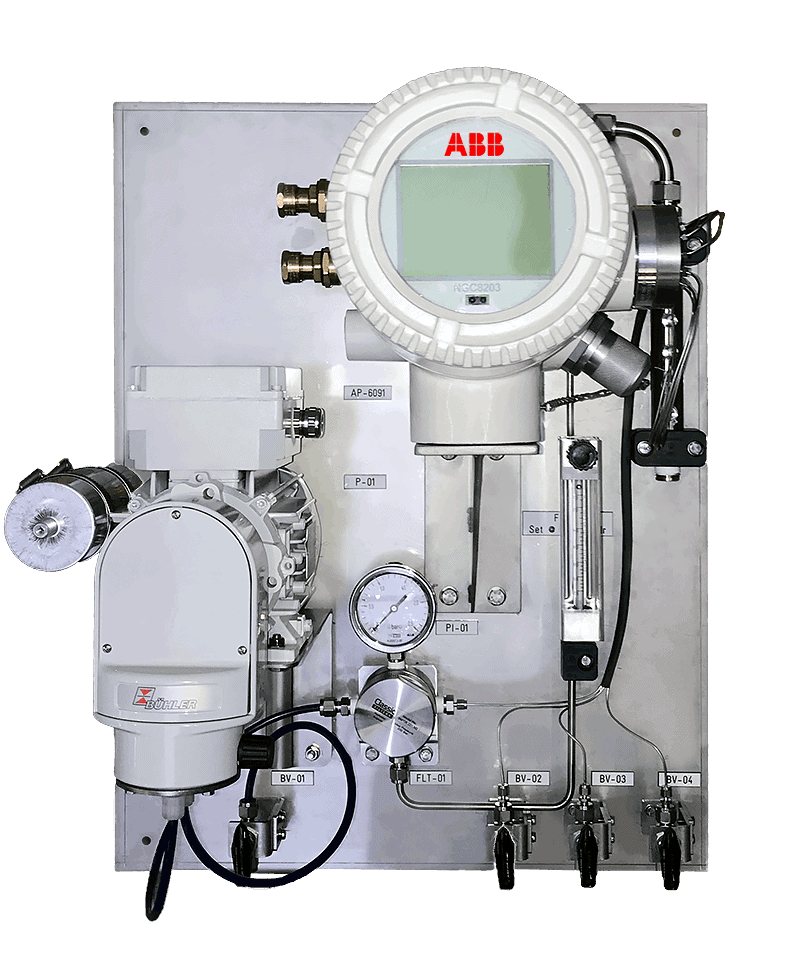 Gas analyzers and sample panels