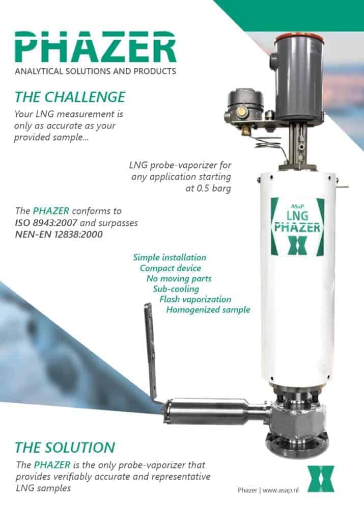 LNG Probe-Vaporizer for accurate LNG samples - The Phazer Brochure