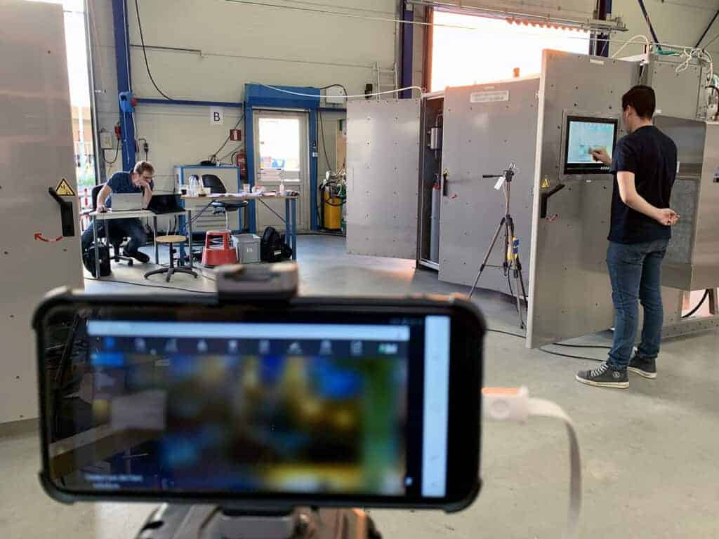 Remote Factory Acceptance Test (FAT) Multiple camera angels are streamed