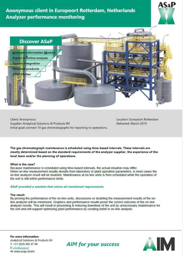 Click to download PDF: AIM for your success - Analyzer performance monitoring leaflet