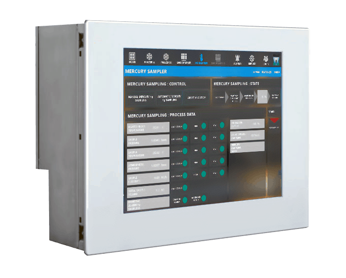 Integrated Mercury sampling HMI with intuitive user software