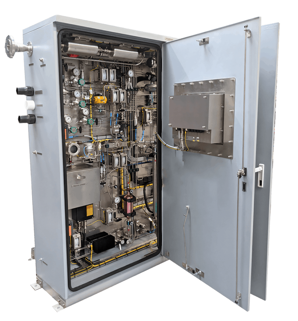 Inside the compact LNG Sampler with the mercury sampling box