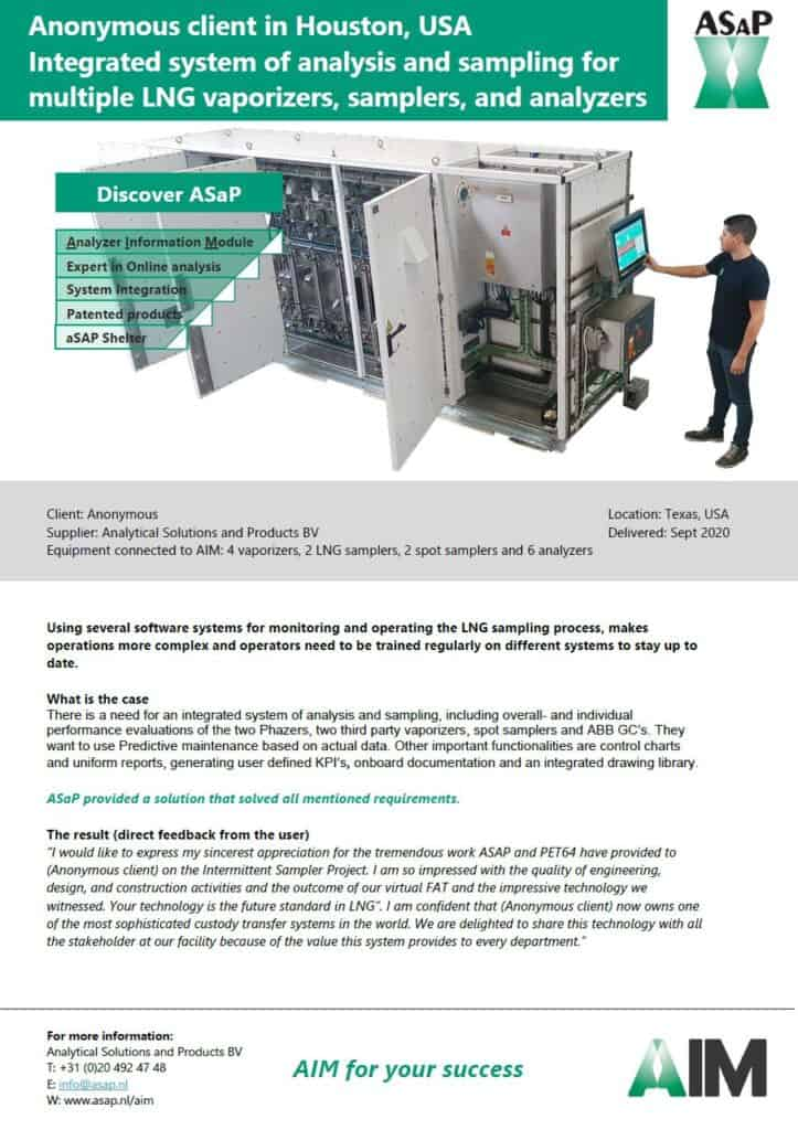 AIM predictive maintenance software; an integrated LNG system - Leaflet PDF